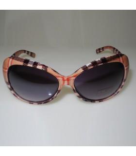 Braune Sonnenbrille mit modischen Quadraten