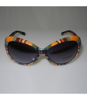 Orange and green squares fashion frames sunglasses