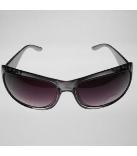 Graue Sonnenbrille mit modischen Quadraten
