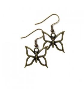 Simple bronze earrings