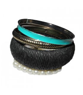 Bangles plusieurs bracelets turquoise