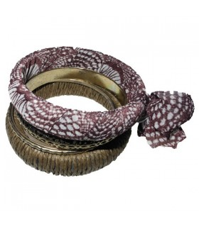 Bangles multi bracelets brown