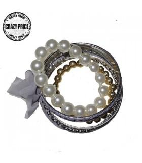 Bangles multi bracelets lila