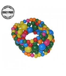 Bracelet colorié de bois
