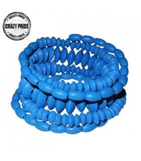 Blue wood bracelet