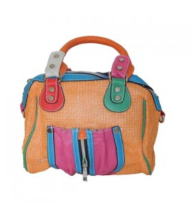 Orange Mode Regenbogen Tasche