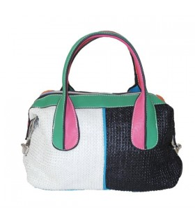 Two shades fashion rainbow bag