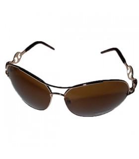 Sonnenbrille mit goldenem Rahmen