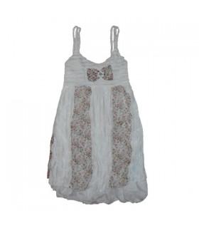 Robe douce à fleurs en mousseline de soie