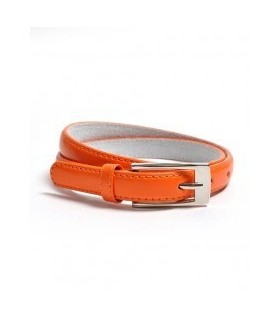 Dünner Gürtel in orange