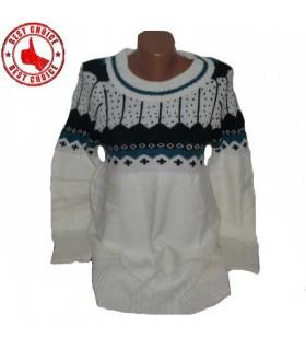 Strickkleid Pullover norwegischen Muster
