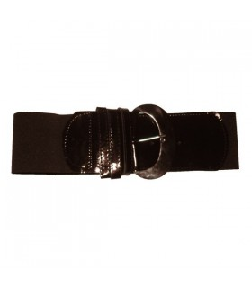 Brown wide elastic belt
