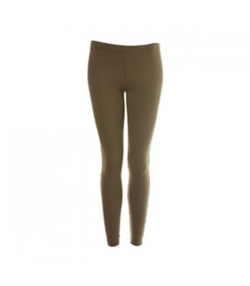 Khaki cotton leggings