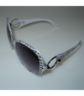 White fashion frames sunglasses
