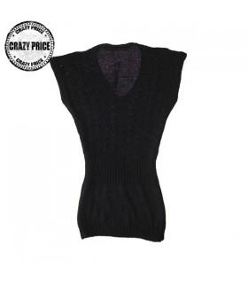 Crochet top nero