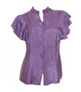Bague mauve chemise courte évasée