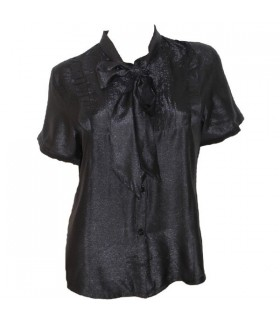 Black front bow shirt