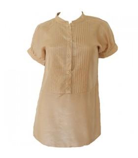 Chemise tunique beige