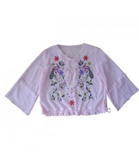 Camicia stile boho rosa