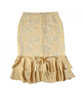 Brocade and silk elegant skirt