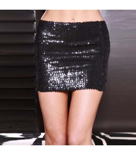 Shining sequin embellished skirt
