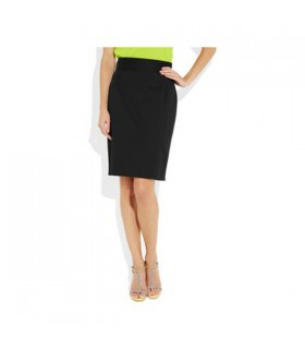 Stoff classic black pencil skirt