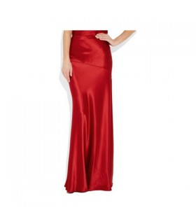 Red elegant maxi skirt