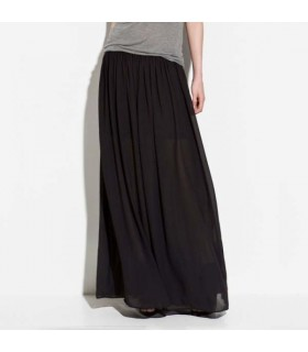 Nero maxi gonna in chiffon