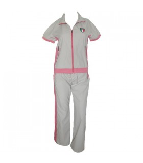 Beige active-wear tracksuit