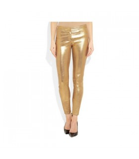 Goldene Leggings