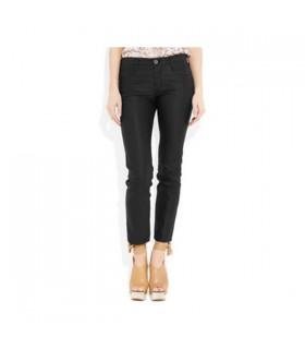 Schwarz glänzende Hose
