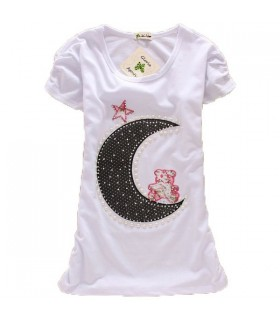 Moon light short sleeve top
