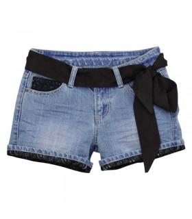 Kurze Spitzen Jeans