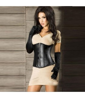 Black leather underbust