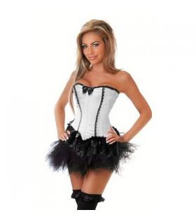Sexy stylish white corset