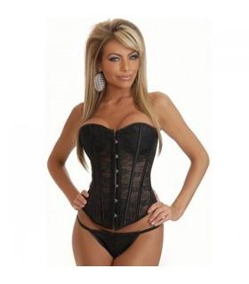Nero di pizzo sexy lingerie corsetto