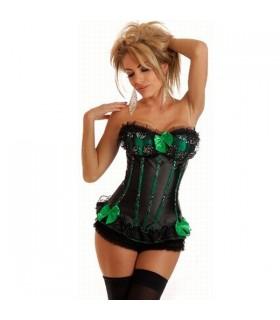 Victorian green corset