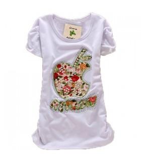 Sweet apple short sleeves top