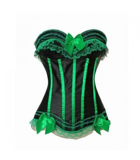 Sexy corset with green lace