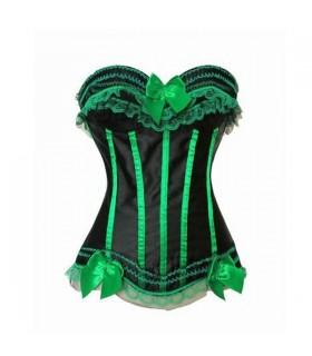 Sexy Korsett mit grünen Spitzen