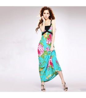 Style doux longue robe exotique