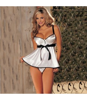 Romantic white babydoll