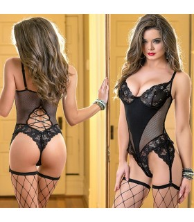 Black chemise with g-string