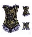 Brocade corset victorien