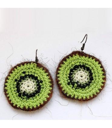 Crochet Earrings Kiwi Style