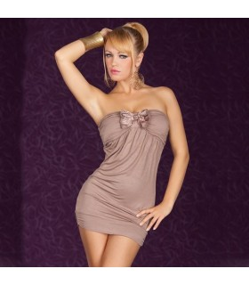 Zürich beige sexy dress