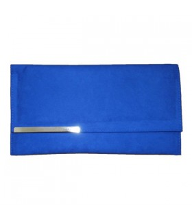 Blue fashion clutch