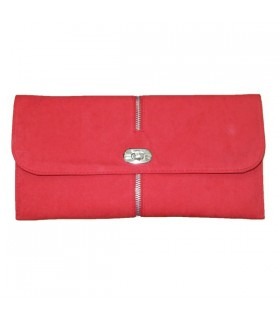 Coral fashion clutch