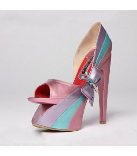 Sandales architecture couleurs métalliques
