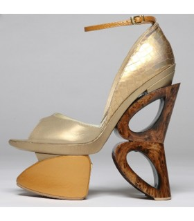 Wood butterfly architectural shoes
